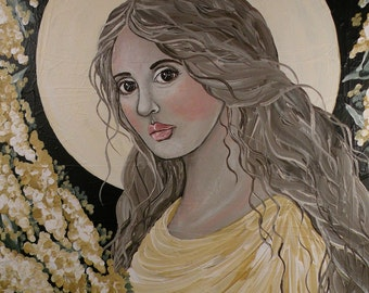 "Folk Art Angel ""Radiance"" PRINT of Painting by Lore"