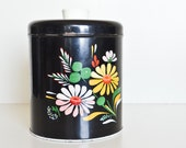 Ransburg Floral Tin with Lid