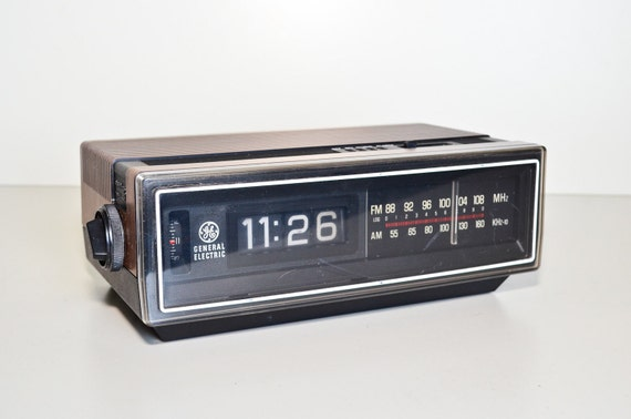 Flip Clock Ge Am Fm Radio By Dentwood On Etsy
