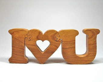 Valentines Gift Wooden Puzzle for Mothers Day, Valentines, Christmas, or Wedding