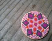 Mandala Pin/Brooch - Hand Painted no.2