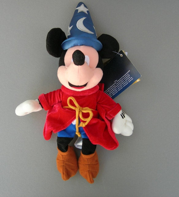 Disney Fantasia Sorcerer Mickey Mouse Bean Bag Plush Toy