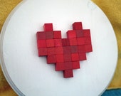 Nintendo Power Heart 8-bit Wood Mosaic
