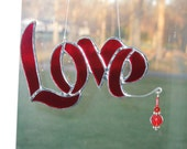 Love stained glass suncatcher