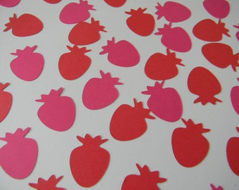 Ready to Ship - Strawberry Birthday Party Confetti - 200 pieces