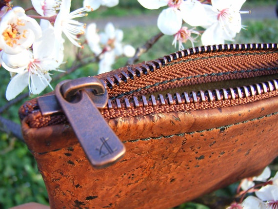 Handmade Cork Purse Copperline - sustainable