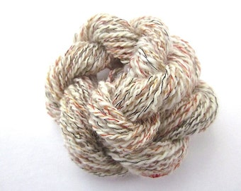 Unique Handspun 4ply Wool & Rayon Novelty Yarn for sale