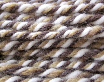 Handspun Wool Yarn, Thick, Soft & Warm 3-ply Homespun