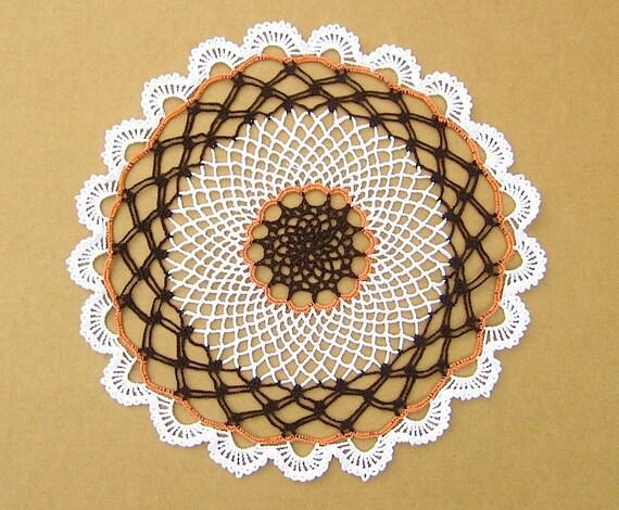 Handmade Crochet Doily VintageChic HomeDecor Hostess Gift