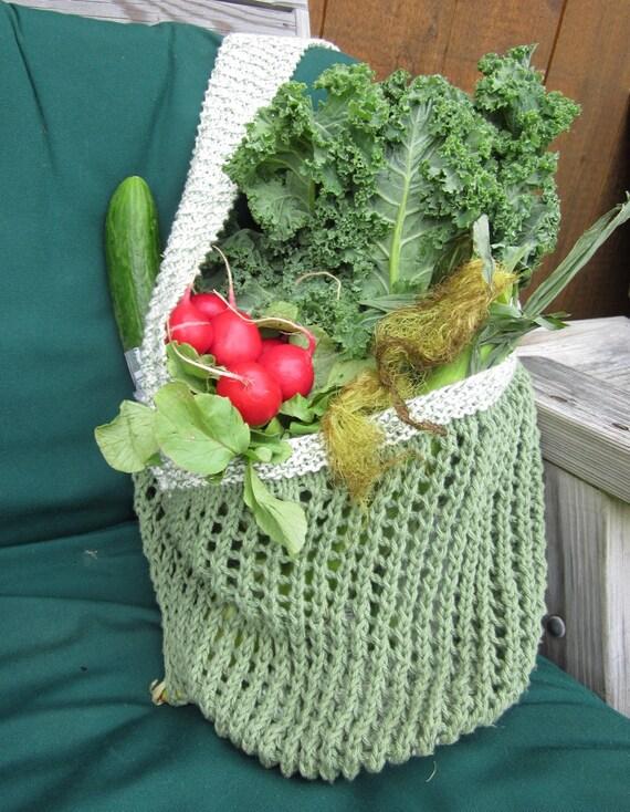 Reusable Eco-friendly Vegan Cotton Knit Mesh Market Bag