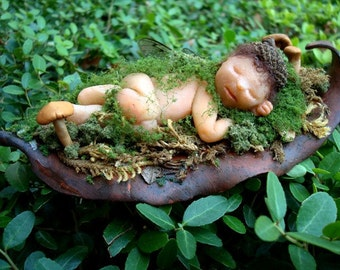 OOAK Fairy in the  Enchanted Wood