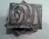 SMOKY PATCHOULI Cold Processed Unisex Vegan Soap... with Purifying Activated Charcoal