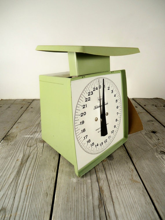 Vintage Green Kitchen Scale On Hold for KewpieKrazy