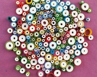 """Modern wall art, Circular wall art, Rolled paper art, Unique wall art, """"Bubbles"""""""