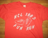 1983 Fun Run t-shirt, soft and thin, L-XL, Screen Stars