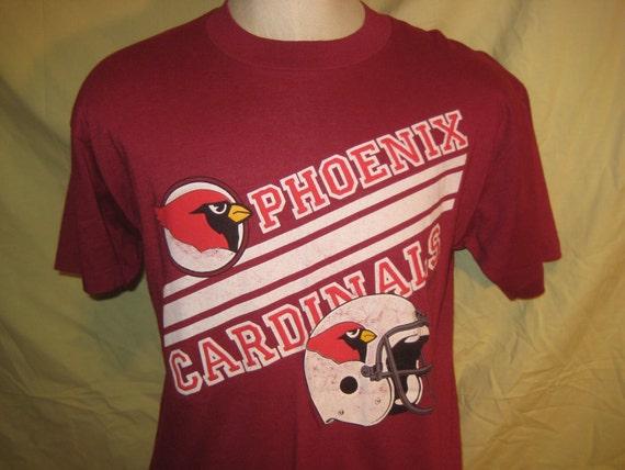 Vintage 1980's Phoenix Cardinals t-shirt, soft and thin, L