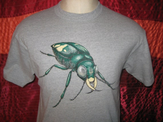 1980's big beetle t-shirt, soft and thin, large
