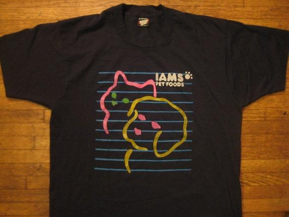 1980's funny Iams dog food t-shirt, XL