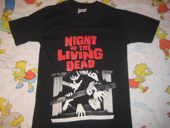 Reserved item.........1980's Night Of The Living Dead horror movie t-shirt, soft and thin, small