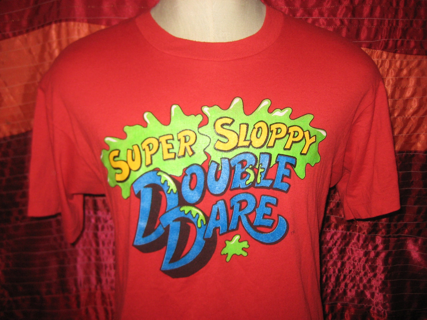 Vintage 80 S Super Sloppy Double Dare T Shirt Soft And
