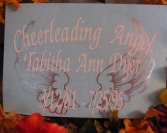 Memorial Decal -Angel Wings