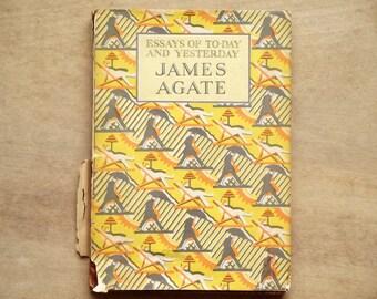 Vintage 1920s book Rain Shine dust jacket James Agate