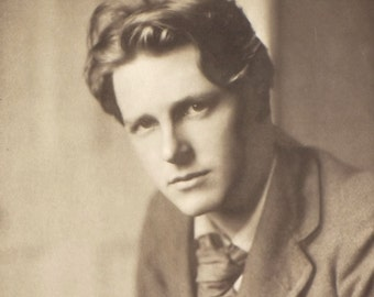 vintage poetry book The Collected Poems of Rupert Brooke with a memoir