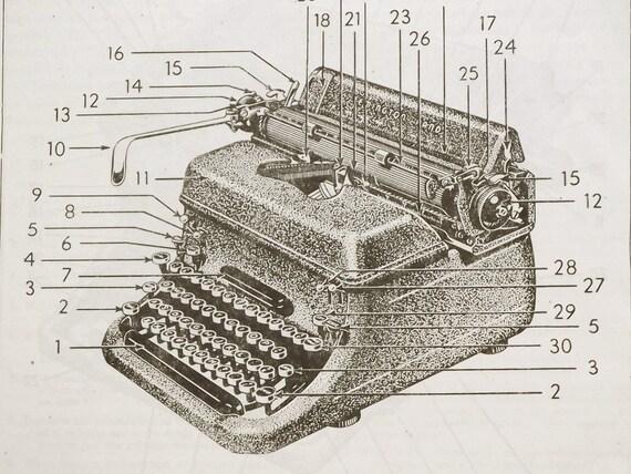 Vintage 1950s Typewriter Typewriting book Advanced Typewriting by Frederick Heelis