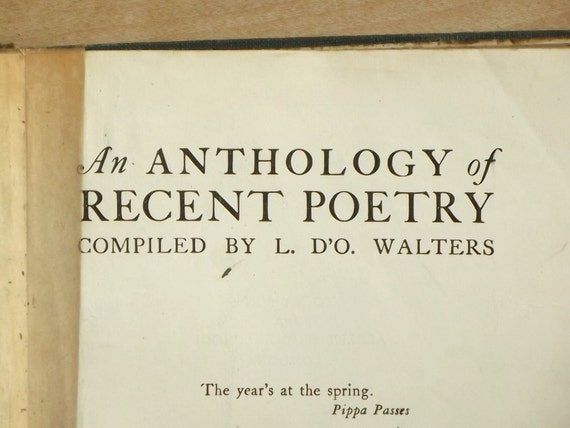 Vintage 1930s poetry for schools