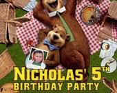 Yogi Bear Invitations Custom Designed  with Your Child's Photo  Design 2