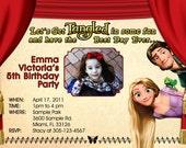 Tangled Invitations Custom Designed  with Your Child's Photo  Design 2