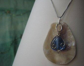 Summer Day Oyster Seashell Pendant
