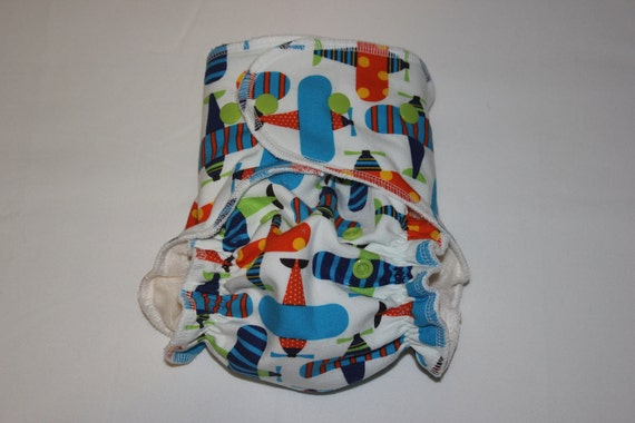 """Cheeky Cloth One Size Organic Bamboo Fitted Diaper """"Air Delivery"""""""