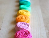 Double Rosette Headband - Pick Your Colors