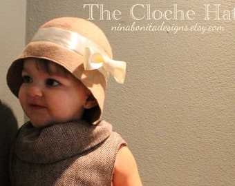 The Cloche Hat, PDF Sewing Pattern, Child Sizes, Instant Download Tutorial