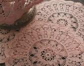 Pink dreamy doily