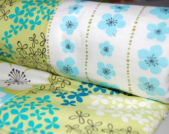 Baby Blanket Blue & Green Pick A Bunch Patchwork