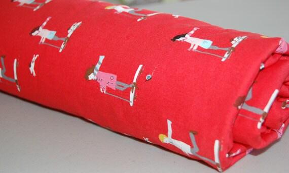 Baby Blanket - Toddler Blanket - Red Skateboard for Baby Girl or Baby Boy - Red Baby Blanket