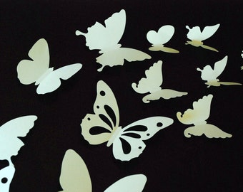 20 pieces 3D paper butterfly sticker, wall sticker, room decoration, baby nursery, wedding decoration inpale green color