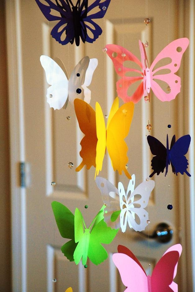 3d Paper Butterfly Mobile Baby Nursery Mobile Baby Shower