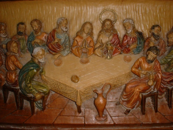 Vintage Last Supper Wall Plaque from Italy SAVED for JUDY