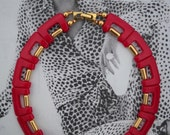 Studio Chic Raspberry and Gold Collar , Ca 1975