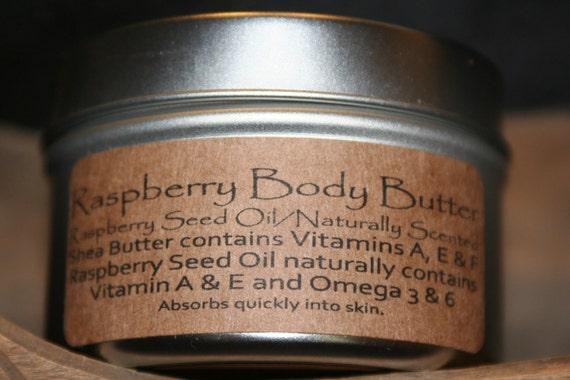 Whipped Raspberry Body Butter - Organic Raspberry Flavor Extract, Fair Trade Organic