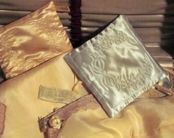 1930's Sachets Satin Vintage Pair