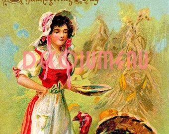 Thanksgiving Digital Download Antique Image
