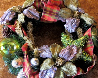 Christmas Wreath Hand Decorated by Decojumeau