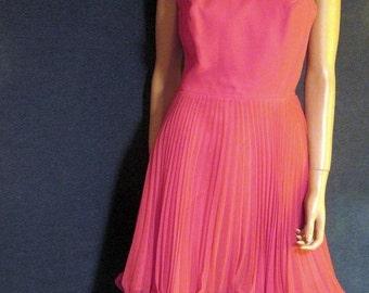 Vintage 1960's Hot Pink Mini Dress S-M