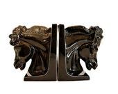 Hollywood Regency Horse Bookends