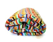 Vintage Crochet Afghan, Missoni Inspired Zig Zag