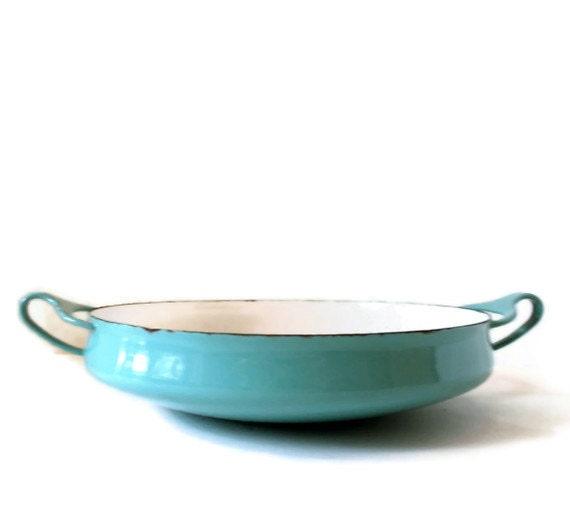 Dansk Kobenstyle paella pan in aqua blue